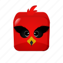 angrybird, cartoon, game icon