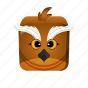 bird, cartoon, game icon