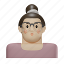 hipster, glasses, boy, male, avatar, man, person