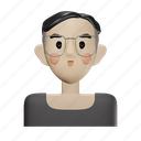 smart, young, glasses, male, avatar, man, person