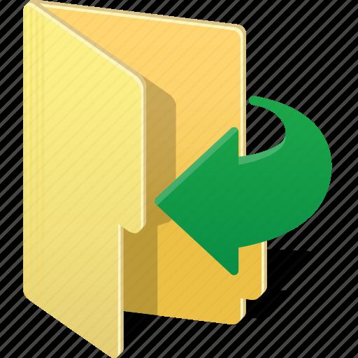 arrow, directory, enter, folder, forward, open, send icon