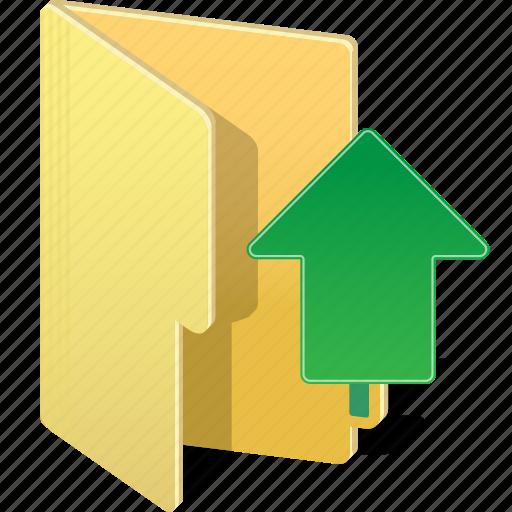 arrow, directory, document, file, folder, up, upload icon