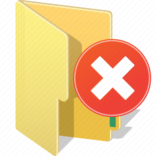 archive, close, cross, directory, file, folder, remove icon
