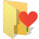 archive, directory, favorite, folder, heart, like, love icon