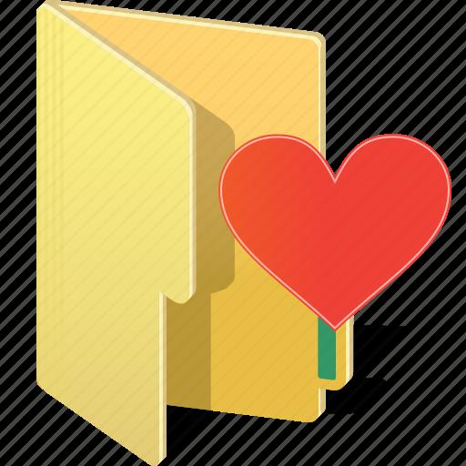 archive, directory, favorite, folder, heart, like, love icon