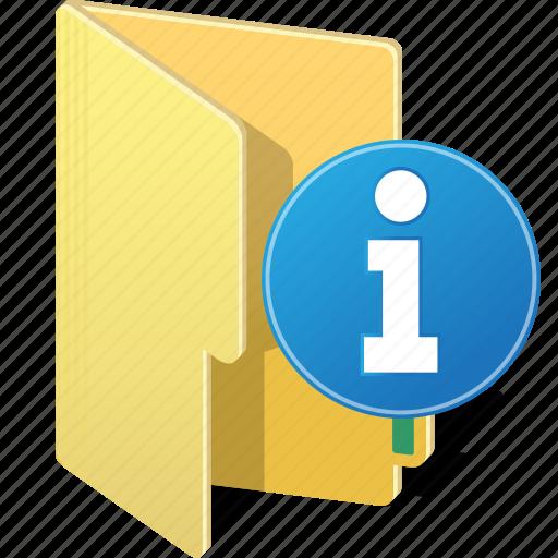 alert, directory, folder, info, information, warm icon
