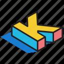 3d alphabet, 3d font, 3d k, 3d letter, 3d text icon