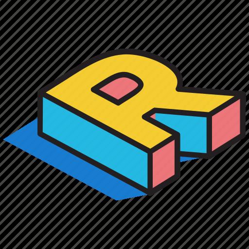 3d alphabet, 3d font, 3d letter, 3d r, 3d text icon