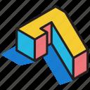 3d digit, 3d number, 3d numeric, 3d seven, 3d typography icon