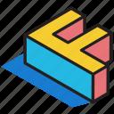 3d alphabet, 3d f, 3d font, 3d letter, 3d text icon