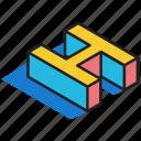 3d alphabet, 3d font, 3d h, 3d letter, 3d text icon