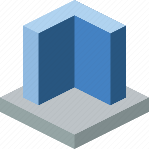 cad, drawing, extrude, interface, modeling, tool, wall icon