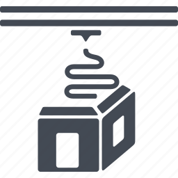 print, printer, printing, three d, three d printer icon