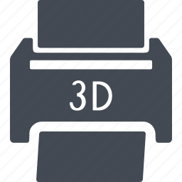 print, printer, printing, three d, three d printer icon