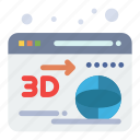 3d, globe, printer, web