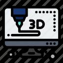 3d, computer, printer