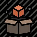 3d, box, cube, geometric
