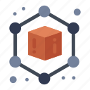 3d, cube, geometric icon