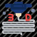 3d, gadget, material, plastic, printer