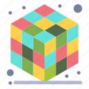 3d, cube, gadget, layer icon