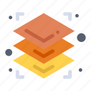 3d, height, layers, printing icon