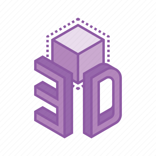 3d, cube, design, dimension, model icon