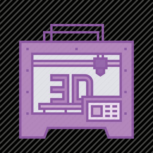 1, 3d, electric, heat, heavy, laser, machine, model, printer icon
