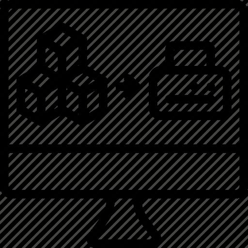 print, printing, shape, three dimensional icon