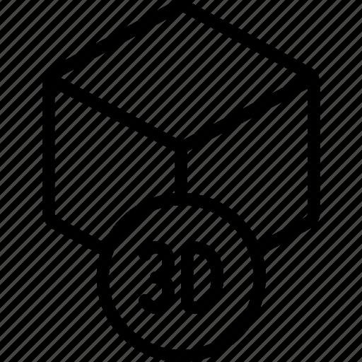 cube, paper, printer, printing, three dimensional icon