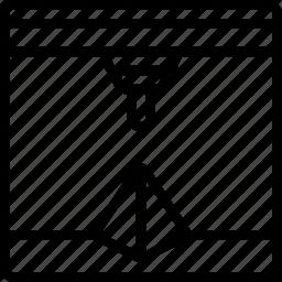 print, printer, printing, pyramid, three dimensional icon