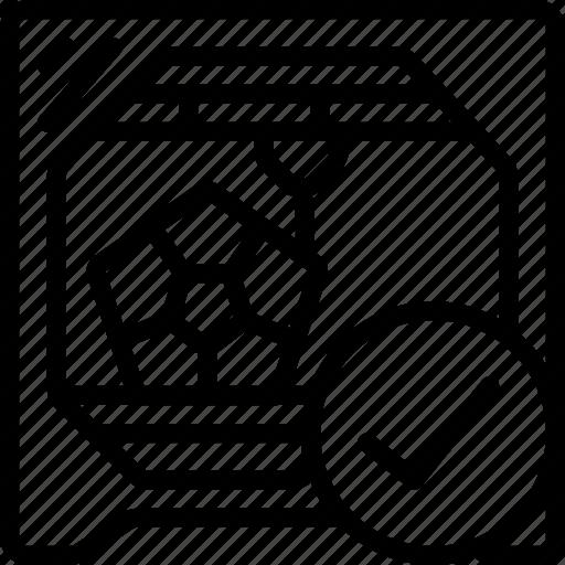 done, print, printer, printing, shape, three dimensional icon