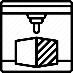 print, printer, printing, shape, three dimensional icon