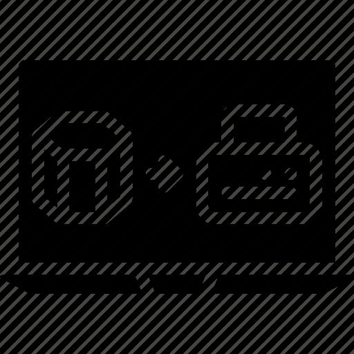 print, printing, shape, three demensional icon