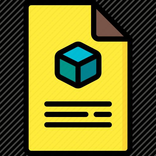 document, print, printing, shape, three demensional icon