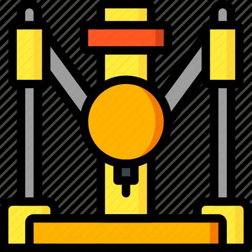 industrial, print, printer, printing, shape, three demensional icon