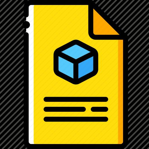document, print, printing, shape, three dimensional icon