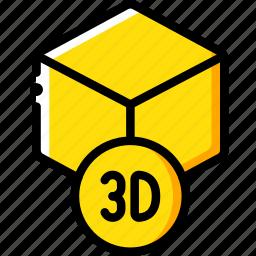 design, print, printing, shape, three dimensional icon