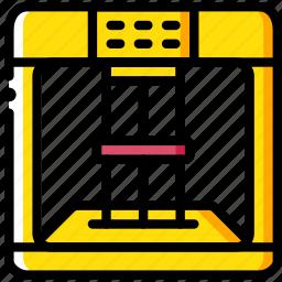 print, printing, scanner, shape, three dimensional icon