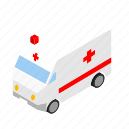 ambulance, city, vehicle icon