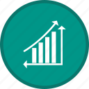 analytics, ascending, chart, growth, statistics icon