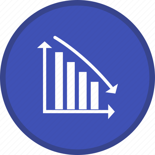 descending, graph, report, statistic, statistics icon