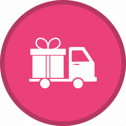 delivery, gift, logistics, shipping, transport icon