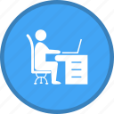 desk, office, work, work space, working icon