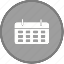 calendar, plan, year icon