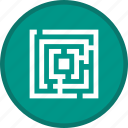 game, gaming, maze, play, solution icon