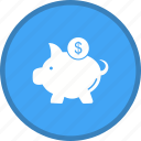 bank, piggy, saving icon