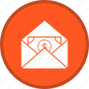 cash, envelope, letter, receiving icon