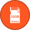 data, memory card, storage icon