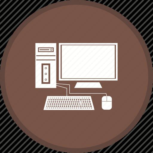 computer, desktop, display, pc icon