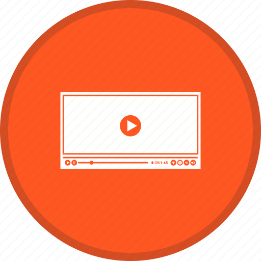 multimedia, music, player, video icon